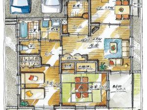 定年後の人生をお考えのご夫婦に送る、スローライフを楽しむための等身大住宅へフルリフォーム